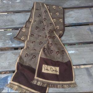 Vintage Pierre Cardin scarf angora wool logo